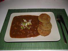 Guláš z hlívy ústřičné s bramboráčky Meatloaf, Food, Essen, Meals, Yemek, Eten