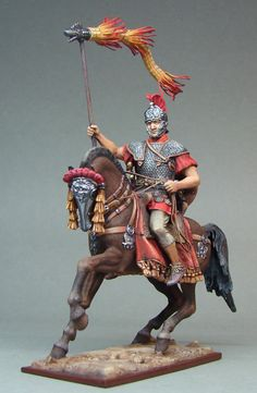 Roman soldier on horseback. Toy Soldier.