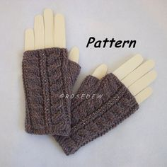 Instant Download to PDF CROCHET Pattern: Palm Fing…