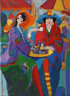 Original Acrylic on Canvas Painting Sophie's Scheme by Isaac Maimon