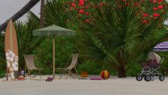 Paradise Island small family beach by Elena - Sims 3 Downloads CC Caboodle