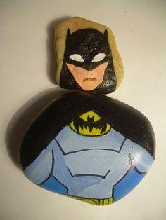 Batman #paintedonstone #paintedontherock #malowanenakamieniu #fridgemagnet #magneslodówkowy #batman
