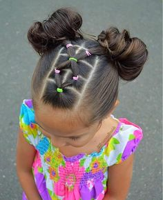 girl girl hairstyles Peinados fciles y bonitos par Lil Girl Hairstyles, Braided Hairstyles, Hairdos, Teenage Hairstyles, Simple Girls Hairstyles, Toddler Girls Hairstyles, Toddler Hair Dos, Children Hairstyles, Pretty Hairstyles