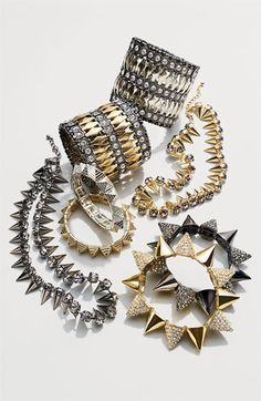Cara Accessories Spiked Stretch Bracelet | Nordstrom
