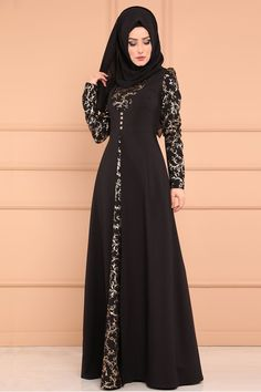 Muslim Abaya Long Dress Lace Dubai Dress - Lace Dresses - Ideas of Lace Dresses Abaya Fashion, Muslim Fashion, Women's Fashion Dresses, Stylish Dresses, Fashion Women, Dress With Shawl, The Dress, Dress Lace, Lace Dresses