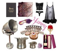 """""""Pink & black Valentine"""" by didesi ❤ liked on Polyvore featuring Harrods, Lenox, Gilda & Pearl, Dolce&Gabbana, Jimmy Choo and Daum"""