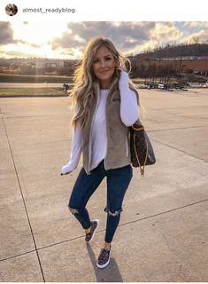 Cute Fall Outfits, Fall Winter Outfits, Autumn Winter Fashion, Spring Outfits, Casual Outfits, Winter Vest, Winter Clothes, Winter Style, Cute Fashion