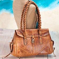 Braided Leather Handbag in Spring 2013 from Uno Alla Volta on shop.CatalogSpree.com, my personal digital mall.