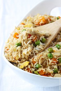 Quick and easy chicken fried rice - better than take out!