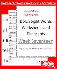 Check out the newest post (Dolch Sight Words Worksheets:  Week Seventeen) on 3 Boys and a Dog at http://3boysandadog.com/2014/05/dolch-sight-words-worksheets-week-seventeen/?Dolch+Sight+Words+Worksheets%3A++Week+Seventeen