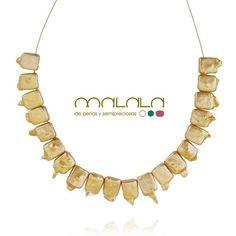 #collar #perlas cultivadas doradas. 90. Disponible en tienda online: http://ift.tt/1PMVyBj  #necklace #pearls #accesories #diseñoExclusivo #elegancia #fashion #femenino #fino #gift #guapa #handmade #hautecouturejewelry #instafashion #jewel #joya #joyeria  #joyeriadediseño #ladies #MadeinSpain #madrid #magia #MalalaDePerlas