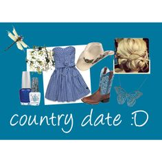country date, created by kgigglez on Polyvore
