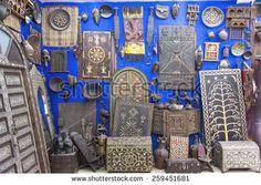 QUAZARZATE, MOROCCO, MARCH 8, 2014. Artifacts for sale in Labyrinthe de Sud in Quarzazate, Morocco, on March 8th, 2014.