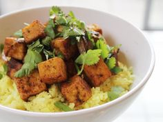 Deborah Madison adds spicy flair to tofu in this recipe from The New Vegetarian Cooking for Everyone.