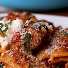 Sausage, Spinach, Tomato Rigatoni Recipe by Tasty