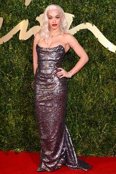 Rita Ora British Fashion Awards 2013