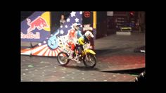 The WORLD FIRST EVER successful tandem front flip done by Travis Pastrana of Nitro Circus. This was performed at Copps Coliseum in Hamilton, Ontario, Canada . Nitro Circus, Dirt Bike Gear, Dirt Bikes, Monster Energy, Tandem, Travis Pastrana, Triumph Motorcycles, Motocross, Motosport