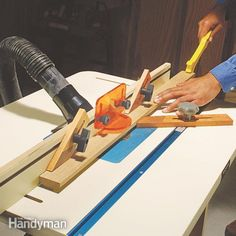 Double the usefulness of your router with a router table. Smooth edges, cut long moldings and mold small projects easier and more safely by using the table. We show you how.