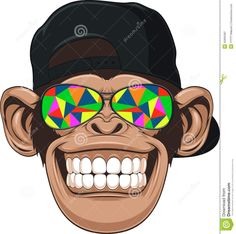 Funny Monkey With Glasses - Download From Over 41 Million High Quality Stock…