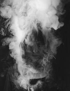 """French photographer Laurence Demaison did two series of smoking portraits called """"In the clouds"""" and """"Meditations"""". In black and white, Smoke Photography, White Photography, Portrait Photography, Monochrome Photography, Photography Ideas, Photo D Art, Portrait Inspiration, Blog Inspiration, Belle Photo"""