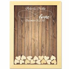 Personalised wooden drop box guest book. Unique alternative to a traditional guest book. Includes frame, 120 hearts and 1 pen. Various designs available and 2 sizes to choose from.  Please add your required names and date in the special instructions section on the 'Your shopping cart' page and ensure you double check that the text is correct before placing your order. Please see example below of how to set this out in the special instructions box.Item: Drop Box Guest BookName: John &a...