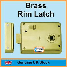 Rim latch, I think this would work well as a door latch for the side doors. I've some old brass oval handles.