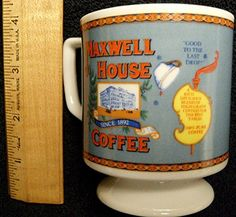 Vintage Maxwell House Coffee Good To The Last Drop Ceramic Mug 1960s-70s General Foods Corporation USA, ITD, Made in Japan http://www.amazon.com/dp/B008LH1YD6/ref=cm_sw_r_pi_dp_V4o-ub0X5CSBH