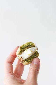 macaron + marshmallow sandwiches