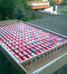 """""""How To Build DIY Solar Panels Out of Pop-Cans"""" -- Previous pinner: """"Aluminium can solar collector. We built one for the chicken coop, now to build a larger one for the house. Renewable Energy, Solar Energy, Home Solar Power, Solaire Diy, Alternative Energie, Solar Collector, Pop Cans, Wind Power, Off The Grid"""
