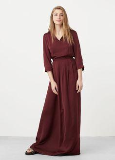 Langes fließendes kleid | MANGO