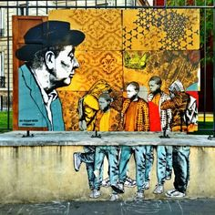 Artists no rules corp, evazesir - street art Montreuil - rue de paris - le 116, juin 2015
