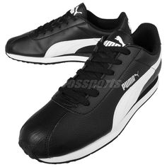 Puma Turin Black White Mens Running Shoes Sneakers Trainers Runner 360116-01