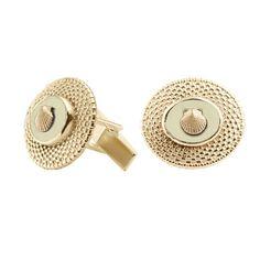 14k Gold Nantucket Basket Top Cufflinks With Tusk Center 1500 Jewelry Oakandivory