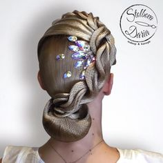Perfectly styled hair is an important part of the overall look for ballroom dance competitors. Ballroom Hair stylists can get very creative. Dancer Hairstyles, Latin Hairstyles, Dress Hairstyles, Dance Competition Hair, Ballroom Dance Hair, Boho Bridal Hair, Instagram Hairstyles, Hair Due, Hair Creations