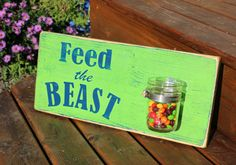 Seahawks Sign, LAST ONE!  SALE!  Ready to Ship! Seattle Seahawks, Feed the Beast, Hand Painted Seahawks Sign, Skittles, Mancave Decor by SaltwaterFishArts on Etsy