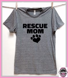 7b55531c Rescue MOM. UNISEX Tri Blend Track T-shirts hand print. animal lovers. dog  shirt. cat shirt. rescue