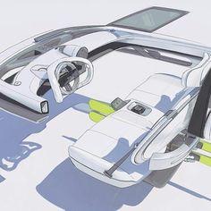 Car Interior Sketch, Car Interior Design, Interior Design Sketches, Car Design Sketch, Interior Concept, Automotive Design, Tesla Interior, Car Sketch, Electric Car Concept
