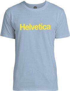 Helvetica (Yellow) Mens Fine Jersey T-Shirt