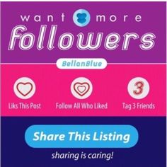 More followers! Follow the rules :) Other