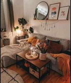 Cozy Living Rooms, Home Living Room, Apartment Living, Living Room Designs, Living Room Decor, Bedroom Decor, Apartment Ideas, Wall Decor, Aesthetic Room Decor