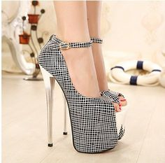 Sexy peep toe shoes for ladies 19 cm red bottom high heels women pumps 2014 black