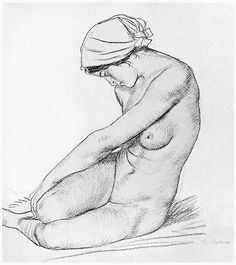 Nude study. William Strang, from Zeichnungen von William Strang (Drawings of William Strang), with an introduction by Hans Wolfgang Singer, Leipzig, 1912.