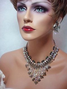 Babelicious Dripping Ice and Crystal Smoke Bib by bodaciousjewels, $425.00