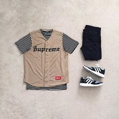 Supremacy⚜ | #outfitgrid :black_small_square:#supreme jersey :black_small_square:#threadworkshop tee :black_small_square:#topman denim :black_small_square:#y3 #pureboostzg #Regram via @?taken-by=johnjunglee #flatlay #flatlays #flatlayapp www.theflatlay.com