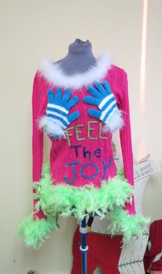 Feel the Joy Tacky Ugly Christmas Sweater by tackyuglychristmas, $55.00 Too funny not to pin!!!