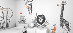 Hey, I found this really awesome Etsy listing at https://www.etsy.com/listing/85264388/kids-wall-decals-set-jungle-giraffe-lion