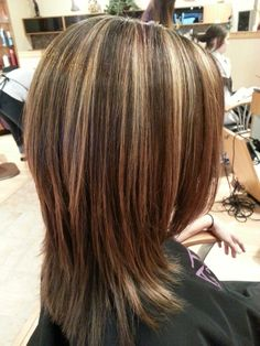 Blonde highlights with chocolate lowlights  5/28 @ K H