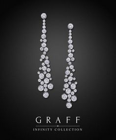 Now this is what I would call Dripping Diamonds! Wow! Gorgeous! Graff Diamonds: Infinity Earrings