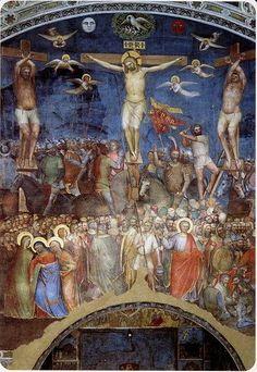 Giusto de' Menabuoi, La Crocifissione. Battistero di Padova. ( ciclo di affreschi 1375-1378 )