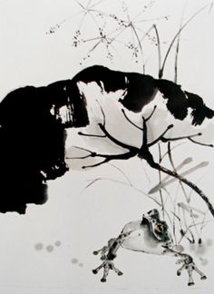 Sumi-e, the Zen Way of the Brush Sketch Painting, Ink Art, Illustration Art, Illustrations, Chinese, Watercolor, Pure Products, Landscape, Ink Paintings